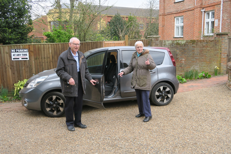 John and Joyce Ilson leaving for their new home in Malvern (April 6th)